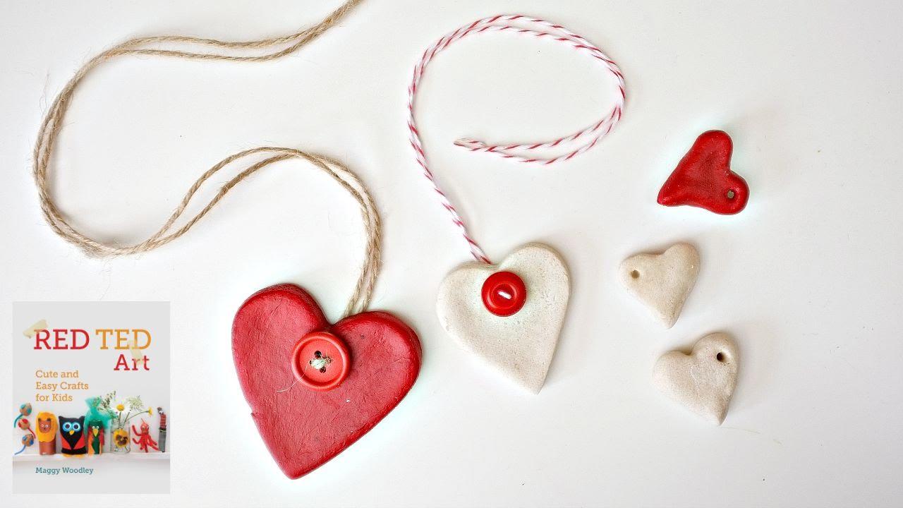 Salt Dough Recipe & Heart Ornaments DIY