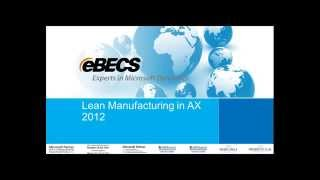 Lean Manufacturing in Dynamics AX