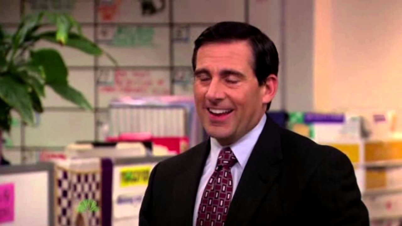e98cb24ad You have our attention just by screaming anything. Michael Scott Yelling -  The Office