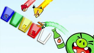 Angry Birds Drink Water 2 - SKILL GAME ALL BIRDS WANT TO DRINK COLOR WATER!