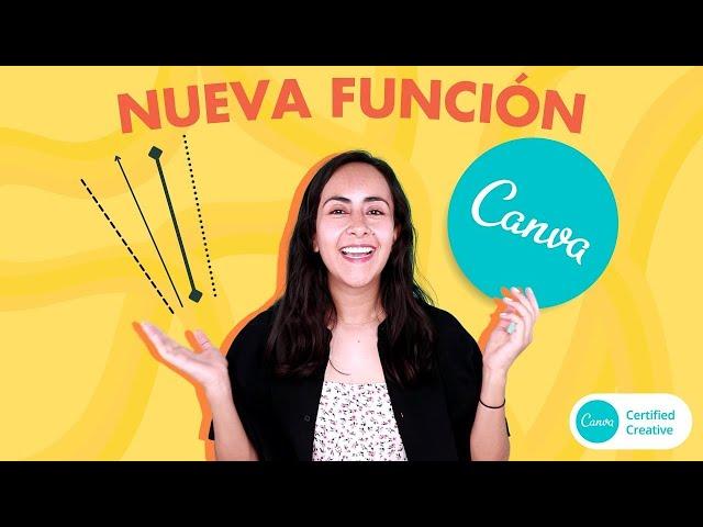 Cómo crear líneas en Canva - Nueva función Canva 2020 (Tutorial de Canva en español)