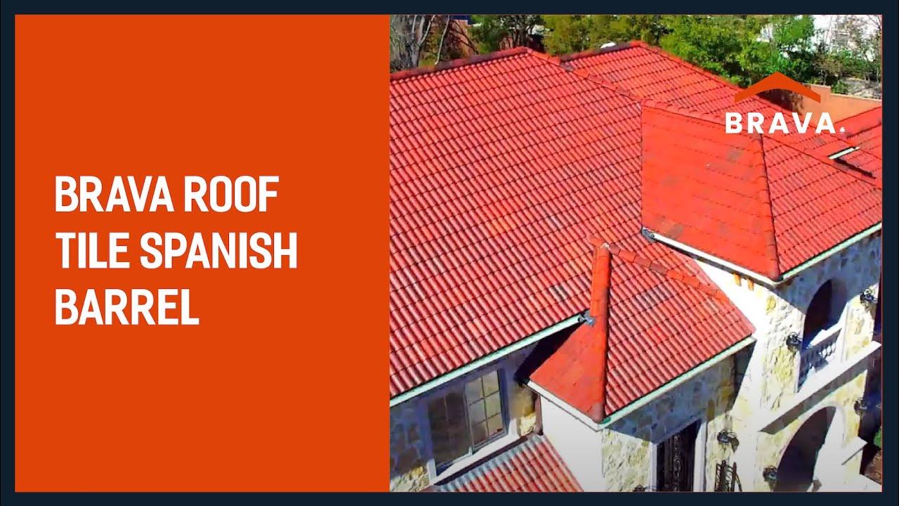 brava roof tile synthetic spanish barrel roof tile color aged mission
