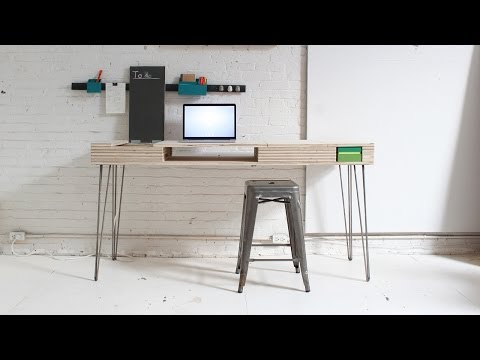 Build a Space-Saving Multi-Utility Desk From a Single Sheet of Plywood