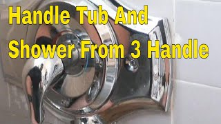 1 handle tub and shower from 3 Handle | How To Plumbing