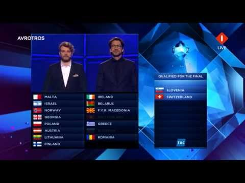 Results Second Semi-Final Eurovision Song Contest 2014