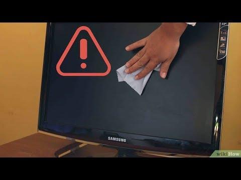 Очистка матрицы LCD монитора,ТВ/Cleaning matrix LCD monitor, TV