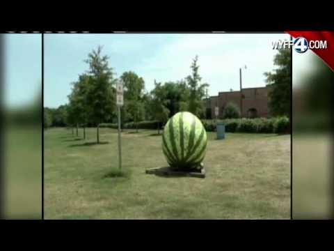 Farmers Market Showcases Giant Watermelon