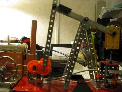 Erector Set oil rig first run (after modifations)