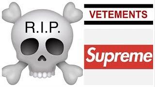 Il RESELL di SUPREME e VETEMENTS è finito ☠️ la morte del brand??