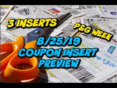8/25/19 COUPON INSERT PREVIEW | 3 INSERTS & SOME GOOD COUPONS 💃