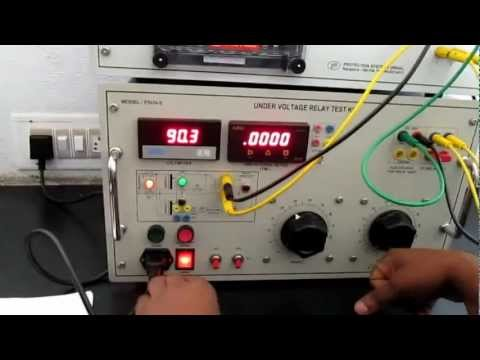electro mechanical under voltage relay test