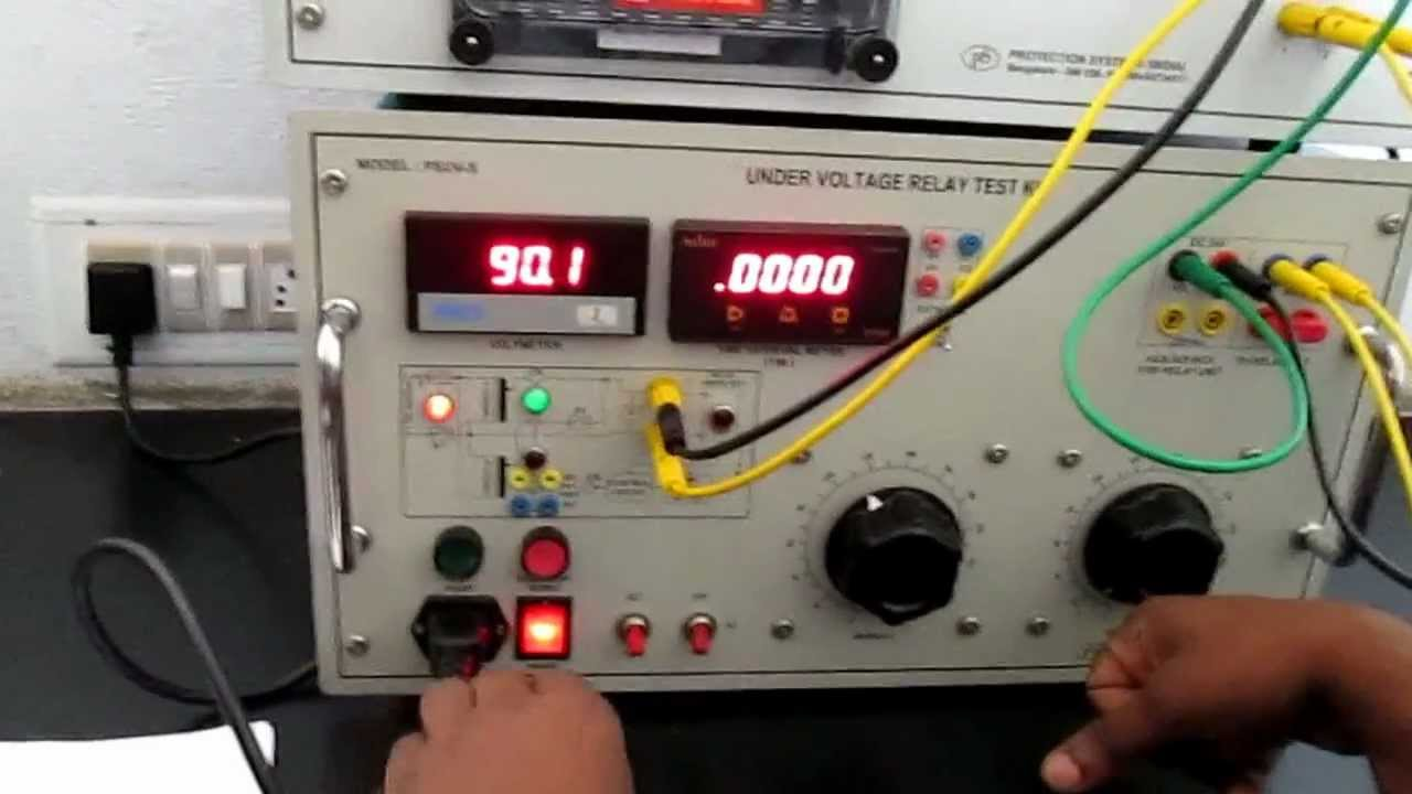 electro mechanical under voltage relay test YouTube
