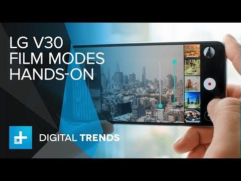 LG V30 Video Film Modes - Hands-on Demo
