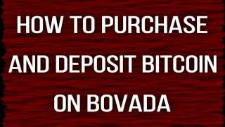 How To Purchase And Deposit Bitcoin To Bovada / Ignition In Minutes
