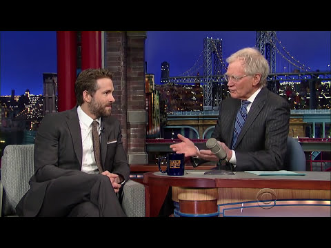 Ryan Reynolds David Letterman 2015
