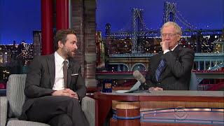 Ryan Reynolds David Letterman 2015