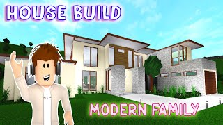 DAPANDADAD Bloxburg House Build | Modern Family Speed Build Roblox