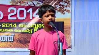 "Sarang Sajith Singing a Poem ""Oru Pattu Pinneyum..."""