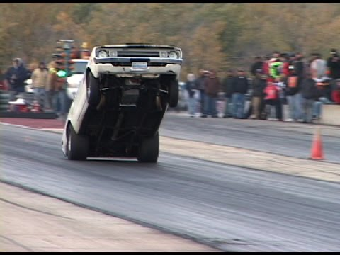 BAD ASS MOPAR WHEELSTAND - 600ft on back bumper!