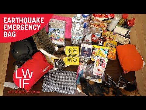 Our Japanese Earthquake Emergency Bag