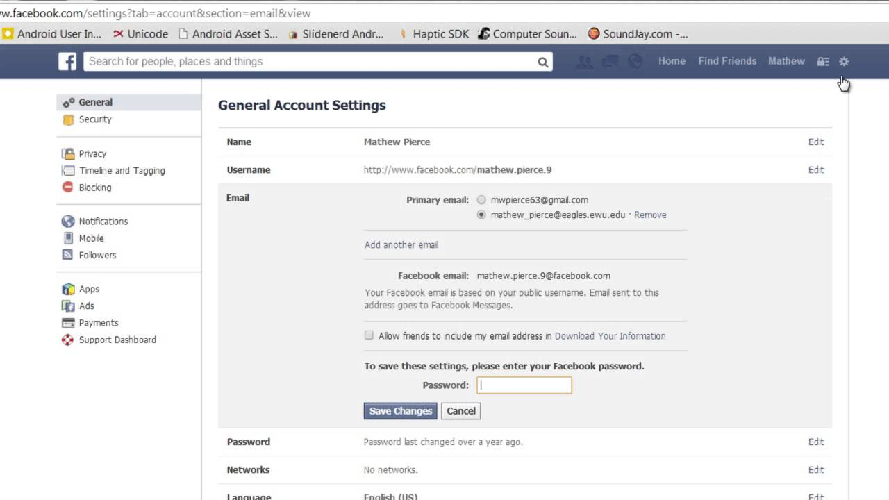 How to Remove an Email Address on Facebook Sign-In : Facebook Info