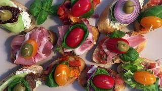 Закусочные Бутерброды Pinchos.