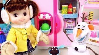 Baby doll Winter coat & Frozen IceCream toys 콩순이 겨울왕국 과 뽀로로 아이스크림 장난감 놀이