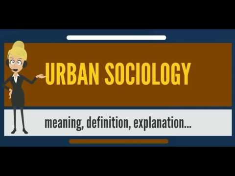 What is URBAN SOCIOLOGY? What does URBAN SOCIOLOGY mean? URBAN SOCIOLOGY meaning & definition