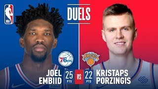 Kristaps Porzingis vs Joel Embiid: Battle Of The Unicorns On Christmas Day