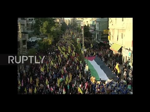 Lebanon: 'Death to Israel' - thousands attend Hezbollah rally in Beirut