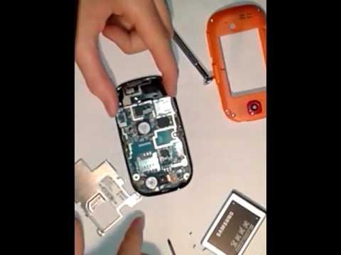 Smontaggio e montaggio samsung corby gt-s3650