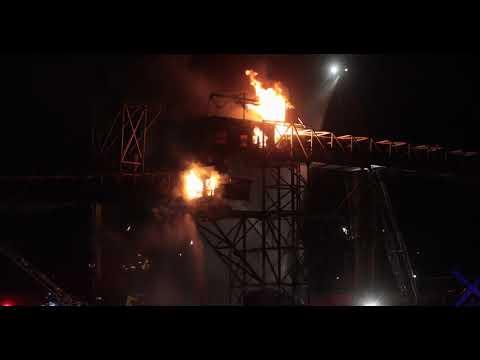 Incendie majeur au port de Québec [VIDÉO]