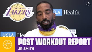 JR Smith speaks on getting acclimated with his new team | Lakers Workouts