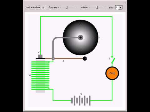 how does an electric bell work diagram 2 way venn electromagnetic doorbell - youtube