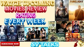 #Moviesreview #Upcomingmovies #Latestmovies     UPCOMING MOVIES REVIEW RATING EVERY WEEK ON SV TALKS
