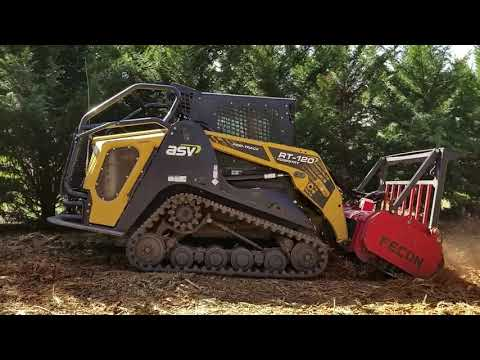 ASV RT 120 with Fecon DCR Grinding Pine