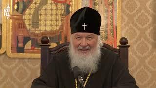 В праздник Рождества Христова состоялся телемост Святейшего Патриарха Кирилла с МКС