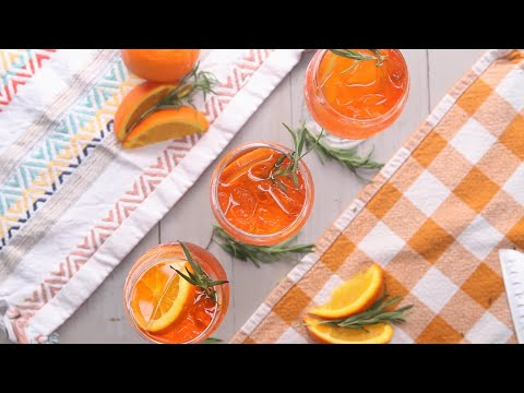 Rosemary Aperol Spritz For One or For A Crowd • Tasty