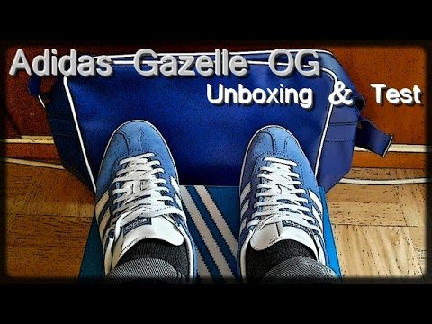 68fb834cee55 Adidas Gazelle OG Air Force Blue Unboxing   Test - YouTube