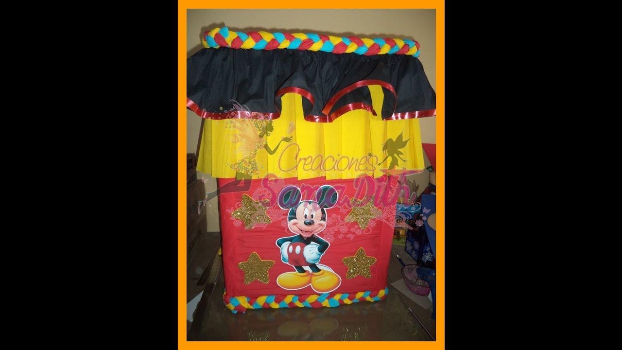Caja para regalos Mickey - how to make DIY - YouTube