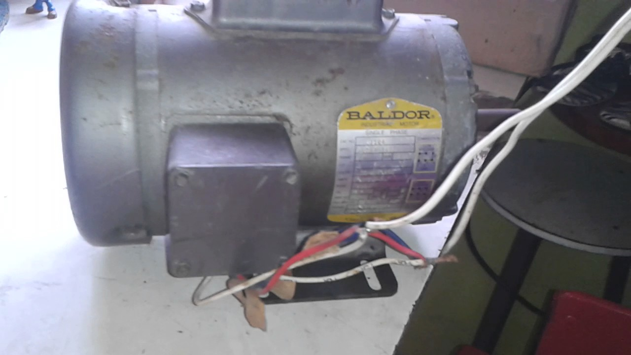 Video Motor Baldor 5 Hp V110 208 Youtube 10 Wiring Diagram