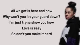 Ella Mai – Easy (Audio) – Lyrics