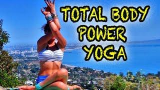total body power yoga beginner intermediate class