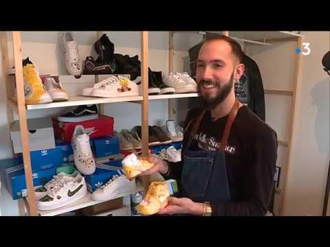 A Rouen, la belle sneaker rénove et customise les chaussures