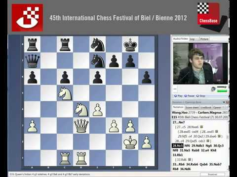 The fantastic game Wang Hao   Magnus Carlsen Chess Festival 2012 Round 7