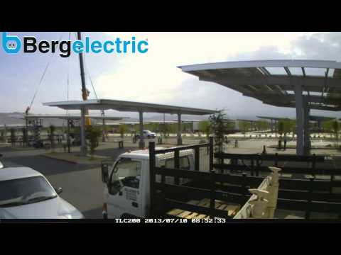 Bergelectric Carport Solar Time Lapse