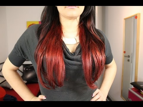 Rotes Ombre/Neuer Trend???