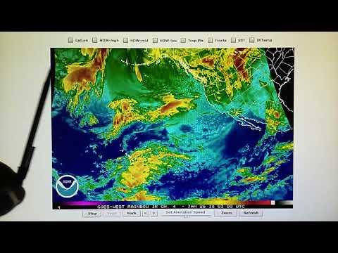 1-25-2018; Satellite Transmitter Evaporates Jet Stream Moisture Moving Into CA; No Rain in Forecast!