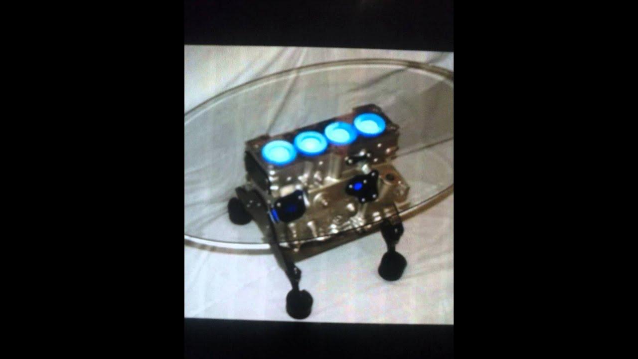 Mesas y lamparas hechas con partes de motores youtube - Piezas para lamparas ...