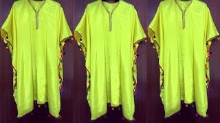 Kaftan Kurti cutting and stitching